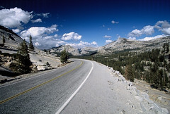 road into yosemite (lomokev) Tags: california road clouds canon nationalpark 100v10fav yosemite tlpoedeleted top20landscape agfa polarizer ultra agfaultra eos1 circularpolarizer hingway canonef2035mmf3545usm rota:type=landscape rota:type=showall rota:type=perspective rota:type=accessories file:name=yo2005b15 roll:name=yo2005b image:selection=tombing
