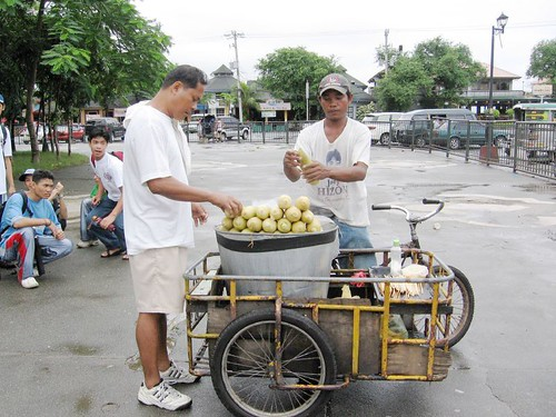 Rizal Park, Manila, Philippines corn,boiled,tricyle,park,ambulant,vendor snack,manila,man stationary street customer