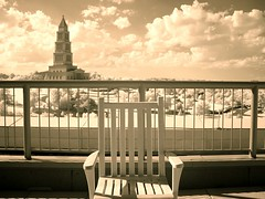last stop last chance (zachstern) Tags: roof wallpaper alexandria sepia fence landscape geotagged temple virginia chair masonic limit masonictemple r72 photophilosophy georgewashingtonmasonicnationalmemorial geo:lat=388044 geo:lon=77062719 zexplored