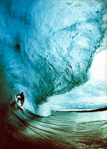 Surfing a big wave / Andy Sparks