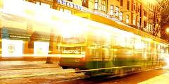 Tram in Helsinki, Finland (jaudrius) Tags: topv111 lights lomo helsinki tram twtmenighttraffic