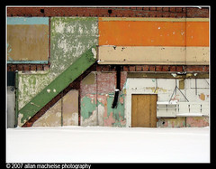 Scars (Allan M) Tags: city urban snow color architecture paint detroit snowstorm demolition woodward scars woodwardavenue demolitionscars trowbridgestreet