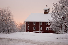 red house in the snow (Dan:Brown) Tags: winter house snow storm weather abc