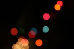 Light saber! (gwen) Tags: christmas pink blue winter light red white abstract cold 20d yellow gold dof bokeh lightsaber fav christmaslight
