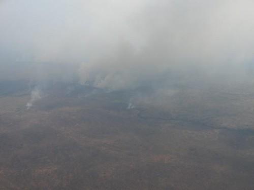 View from Airplane Kitgum to Gulu