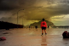 The match is starting (* HugoPan *) Tags: internationalexpositionpeople italy wow football soccer hugopan seafront palermo lungomare footballmatch mycity calcio foroitalico partitella byhugopan