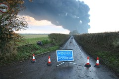 Police Accident (bluebus) Tags: documentary slide oilrefinery hemelhempstead buncefield carbonfootprint