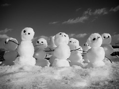 sillyLittleSnowmen (The Year of Mud) Tags: winter snow army snowman topf50 topf75 december topv1111 nj snowmen blizzard calvinandhobbes 1111v11f topf80 topf85 topf90
