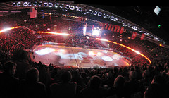 Ottawa: Overtime Stunner (CatsFive) Tags: autostitch panorama canada calgary hockey nhl interesting saddledome ottawa flames panoramic arena alberta calgaryflames senators catsfive ottawasenators flameswin putitinthewincolumn