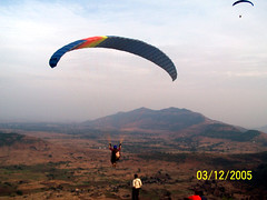 Another solo flight (Stratovarius) Tags: paragliding kamshet
