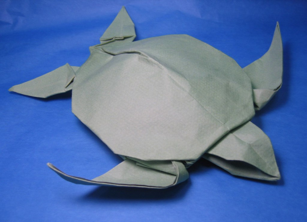 Origami Loggerhead Sea Turtle (Riccardo Foschi) | Tutorial h… | Flickr | 741x1024