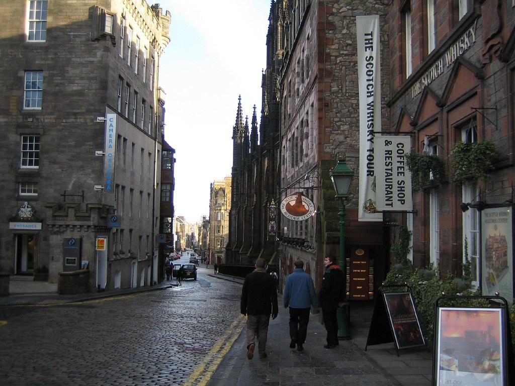 Looking Down the Royal Mile, Edinburgh