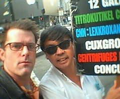 Me & Frank Chu (merlinmann) Tags: sanfrancisco frankchu merlinmann 12galaxies impeachclinton merlinwithfrankchu