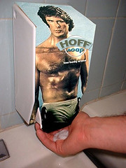 Hoff Soap (The Fuzzy Squid) Tags: found soap hasselhoff cometh spooge