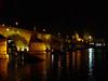Charles Bridge, Prague (Night-time 2) (Lazy B) Tags: bridge water tag3 taggedout night reflections wonder lights tag2 tag1 prague topv222 fz5 charlesbridge iwantse7en 20topfaves2005