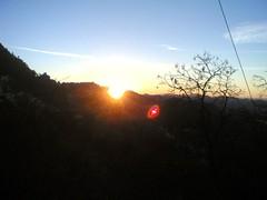 Sunrise at Mussoorie (chirag.gupta) Tags: sunrise lensflare nokia6630 mussoorie