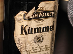 An ancient bottle of kümmel