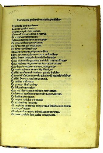 Manuscript inventory number in Decembrius, Petrus Candidus: De genitura hominis