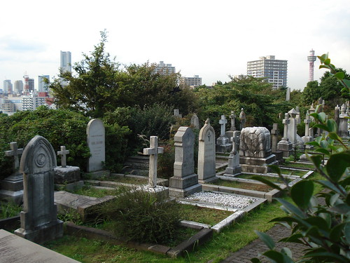 The Foreigners' Cemetery, Yamate Bluff, Yokohama, Japan by ilcavaliereinglese