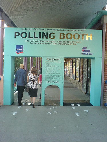 The polling booth of the future