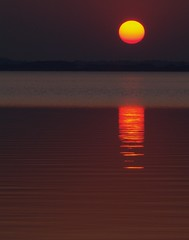 Calm Sunset (Kirsten M Lentoft) Tags: sunset sun lake reflection topf25 water denmark topc100 peopleschoice topc150 naturesfinest abigfave arresø 30faves30comments300views superaplus aplusphoto momse2600 diamondclassphotographer flickrdiamond superhearts awesometribe seasunclouds phoenixnomad kirstenmlentoft
