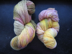 Handdyed sock yarn
