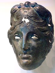 Cavalry Helmet Mask Roman 75-125 CE Bronze