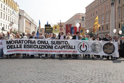 Ненасильственная (Транснациональная) Радикальная Партия - Марш за всеобщий мораторий на смертную казнь