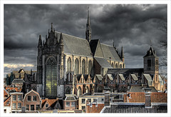 Hooglandse Kerk (Jrg Dickmann) Tags: holland church topf25 netherlands clouds geotagged leiden rooftops gothic nederland kirche nl kerk hdr chimneys niederlande burcht blueribbonwinner 3xp hooglandsekerk flickrsbest sigma1770 canon400d geo:lat=52158947 geo:lon=4492711