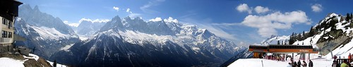 Panorama de los Alpes