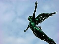 In flight (Olivander) Tags: sculpture art statue southdakota flying siouxfalls abigfave