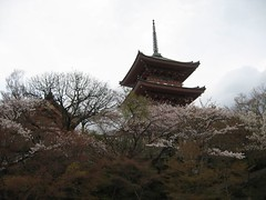 Three-storied Pagoda Again II (jonabrams) Tags: trees flower japan pagoda kyoto cherryblossom sakura threestoried