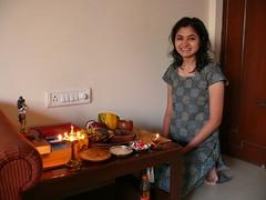 Resh happy with her 'vishukani' (shyresh) Tags: vishu