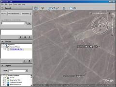 ナスカの地上絵を Google Earth で表示