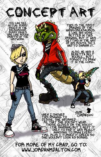Hardcoreasaurus - Concept Art Page