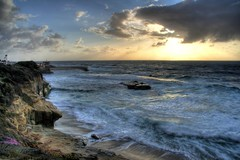 (Tyler Huston) Tags: ocean california longexposure sea seascape motion nature landscape coast waves lajolla diamondclassphotographer