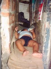 light at the beginning of the tunnel (quietlittleshything) Tags: street baby india children footpath streetchildren calcutta