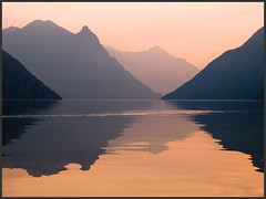 gold (David/. PRO) Tags: lake reflection sunrise mirror switzerland ticino stillness lugano lagodilugano ceresio specnature anawesomeshot wwwsnowhengenet