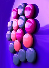 Magnet wall (horstgeorg) Tags: pink blue light abstract art reflections magnets shade magnetwall top20blue