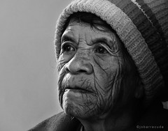 baket mensip-ok (jobarracuda) Tags: bw face lumix grandmother lola oldlady oldwoman pinay filipina bonnet baket igorot fz50 peopleschoice panasoniclumix flickrsbest dmcfz50 jobarracuda superhearts