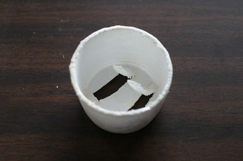 styrofoam soap holder underside