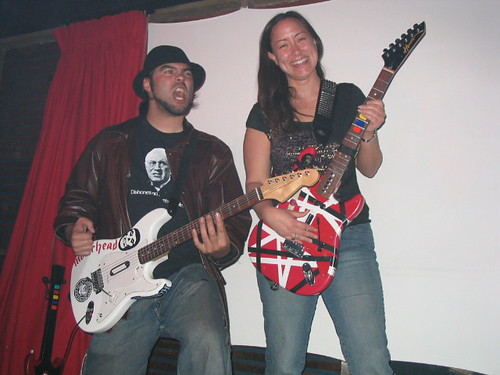 Eric and Steph @ Guitar Hero Bar