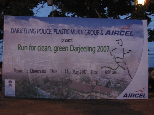 Run against plastics in Darjeeling