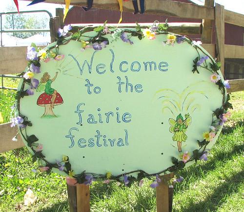 Fairie Festival Sign