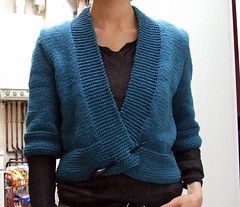 Denim cardigan (darktrico) Tags: blue tricot knitting coton explore cotton ribbon fo ete phildar fanfreluches denimcardigan