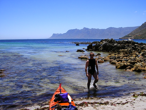 This is some of the most beautiful coastline in South Africa. Unfortunately, bikers roar along the coast road most weekends. Out on the water its silent except for the reflected scream of the bikes. Its not as if theyre enjoying the scenery; how can they at 140km/h? The mentality defeats me...