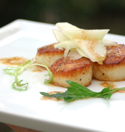 Scallop Pear Salad