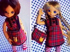 Scotch dress and little bag (Linda Leow) Tags: honey sakura leeke fakeblondie