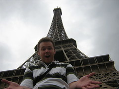 Gary rock'in the Eiffel Tower