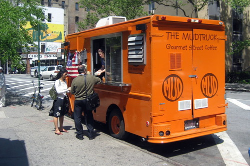 NYC - East Village: Astor Place - MUD truck